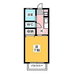 セジュール・オオムラ[1階]の間取り