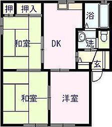 佐賀県唐津市鏡の賃貸アパートの間取り