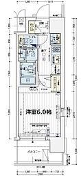 エステムコート難波WEST−SIDEVIIグローブ[3階]の間取り