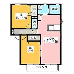 マストタウン神田E・W[1階]の間取り