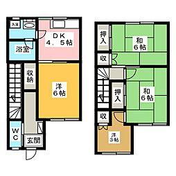 コーポ稲元[2階]の間取り