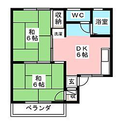 ニューあさひ[2階]の間取り