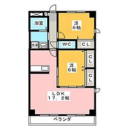 サトウマンション[4階]の間取り
