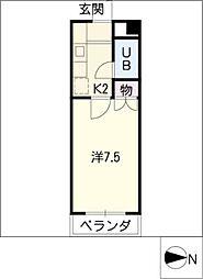 メゾンN.K.S.[3階]の間取り