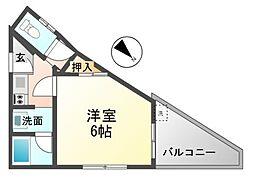 上坂部3丁目アパート[2階]の間取り
