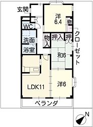 U・AVANCER[3階]の間取り