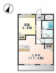 プラッツ・ユー4[1階]の間取り