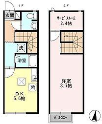 [テラスハウス] 広島県東広島市三永3丁目 の賃貸【/】の間取り