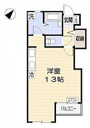 埼玉県さいたま市見沼区大字小深作の賃貸マンションの間取り