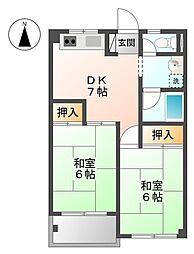 川幡コーポ[1階]の間取り