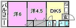 東栄荘[18 号室号室]の間取り