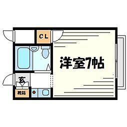 シャルマン武庫川[1階]の間取り