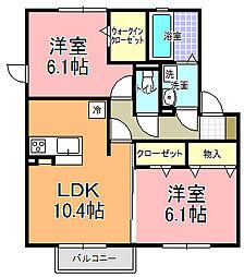仮)D−room寄井 O[203号室]の間取り