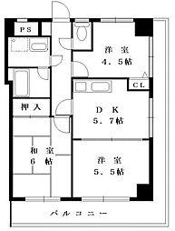 アールアンドアールビルII(アールアンドアールビル2)[3階]の間取り
