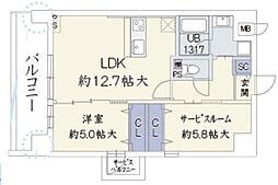 ウッドリバー新大阪[2階]の間取り