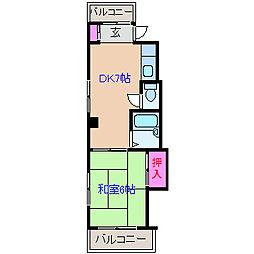 神奈川県横浜市港北区大曽根台の賃貸マンションの間取り