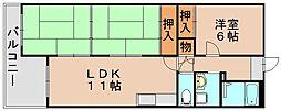 サンシャイン井上[1階]の間取り