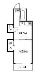 ふじ荘[1階]の間取り