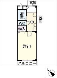 サン・シャインI[2階]の間取り