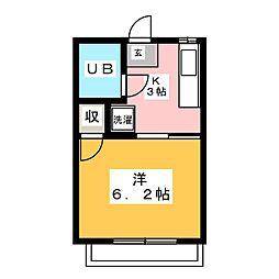 ハマハイツ[2階]の間取り