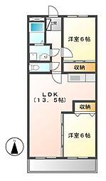 宮地興産ビル[6階]の間取り