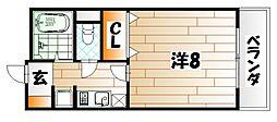 シャルム明石III[2階]の間取り