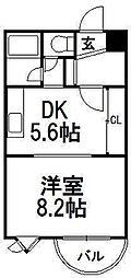 ベストL23[1階]の間取り