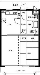 ベル・コーポ・ハシモト[202号室]の間取り