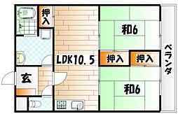 畑田ハイツ[2階]の間取り