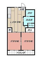 南国産業ビル[9階]の間取り