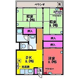 クローネ太閤山D棟[2階]の間取り