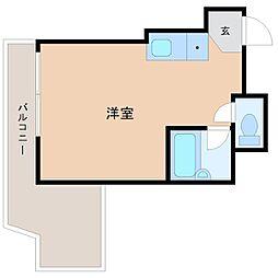 東京都新宿区西新宿7丁目の賃貸マンションの間取り