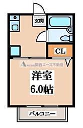 ソレイユ阪奈[3階]の間取り