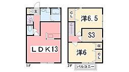 [テラスハウス] 兵庫県高砂市米田町米田新 の賃貸【/】の間取り