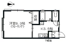 ピュア湘南II[103号室]の間取り