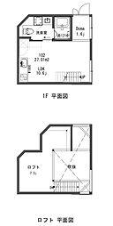 神奈川県三浦郡葉山町長柄の賃貸アパートの間取り