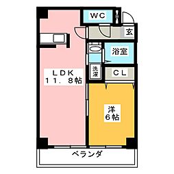 久保建設ビルII[5階]の間取り