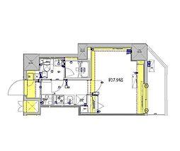 東武伊勢崎線 東向島駅 徒歩7分の賃貸マンション 12階1Kの間取り