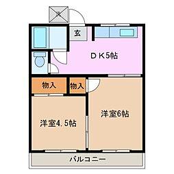 有王荘[1階]の間取り
