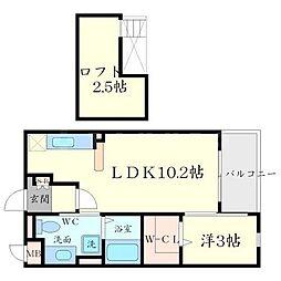イラナークPart2[2階]の間取り