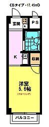 レイメイハイツ2 (2F)[2階]の間取り