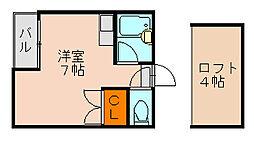 マキシム井尻[1階]の間取り