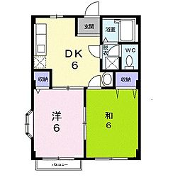 エルディム福島C[0203号室]の間取り