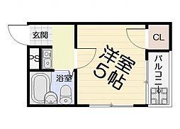 大阪府高石市西取石3丁目の賃貸マンションの間取り