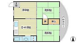 車谷住宅[2-A号室]の間取り
