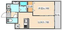 ランドマーク松島[3階]の間取り