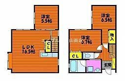 [一戸建] 岡山県岡山市中区さい の賃貸【/】の間取り