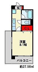 アーバンハイツ南台[7階]の間取り
