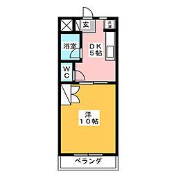 サンライズM[3階]の間取り