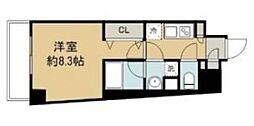 LUMEED中野坂上 9階1Kの間取り
